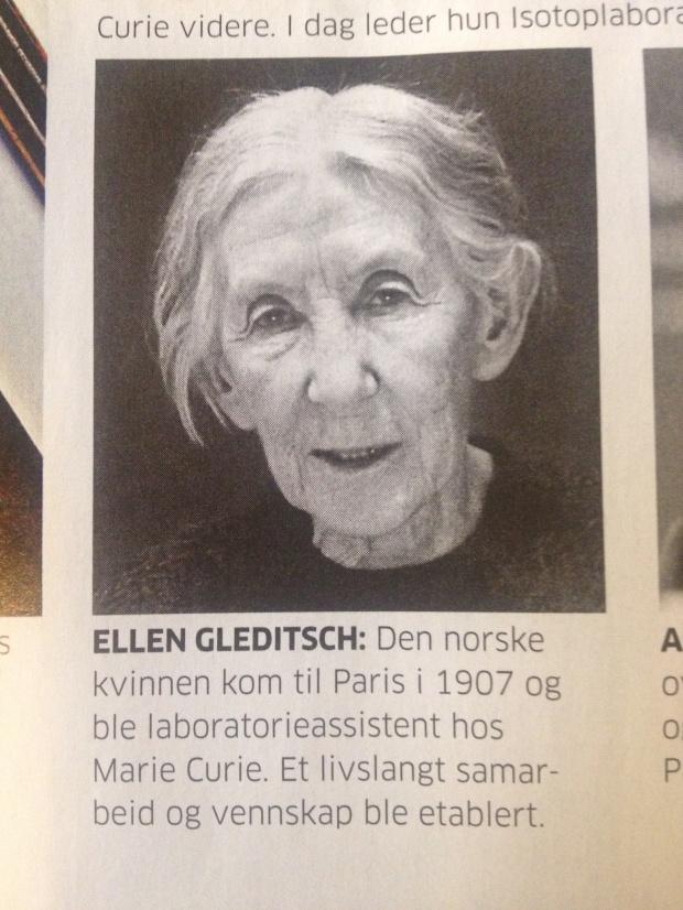 Rekkehusgaten jeg vokste opp i, er oppkalt etter fantastiske Ellen Gleditsch. Hun hadde fortjent en statue.